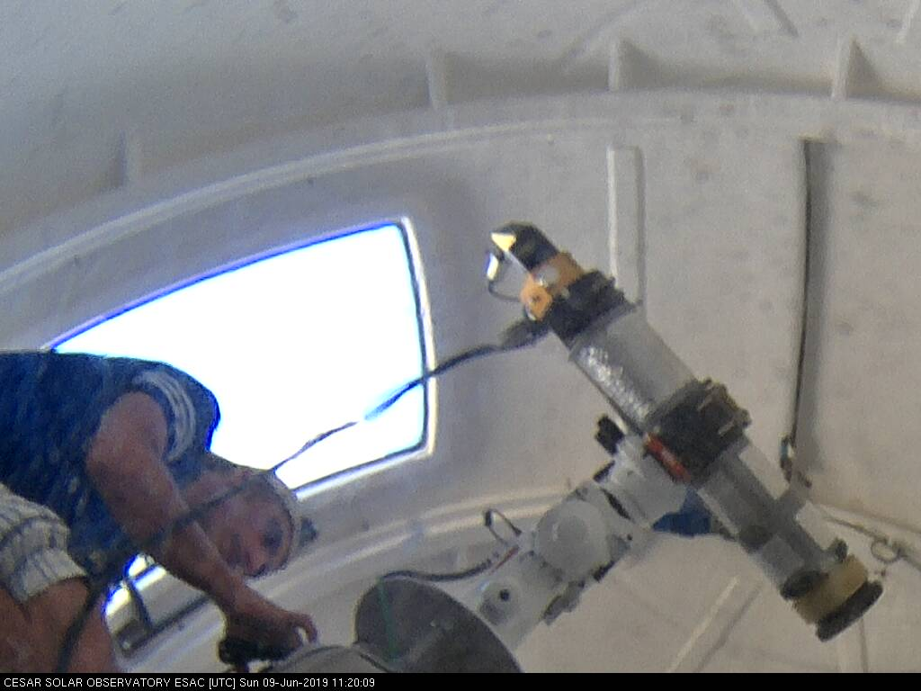 Helios Observatory: inside view - telescope mount
