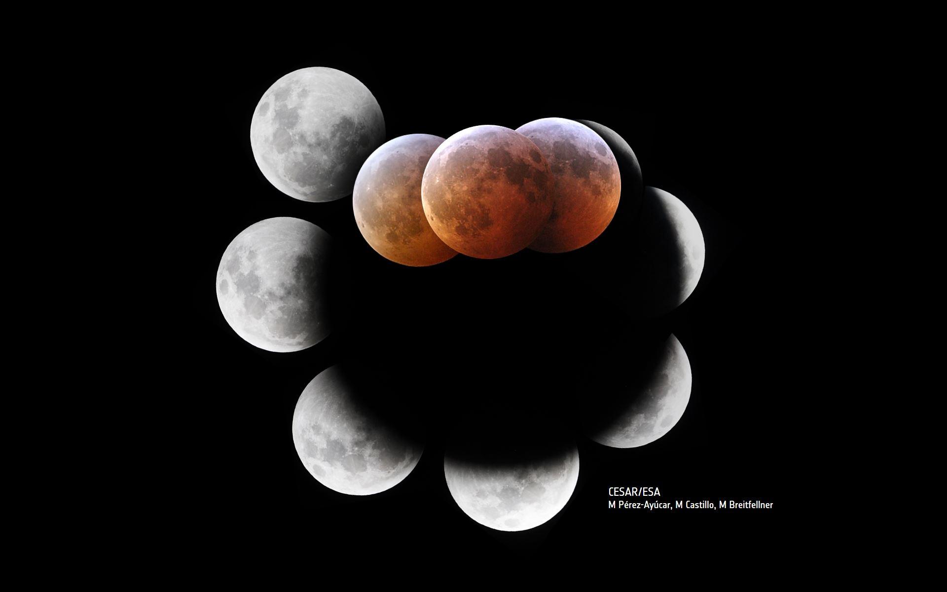 CESAR News - Lunar eclipse from ESAC, 21 Jan 2019